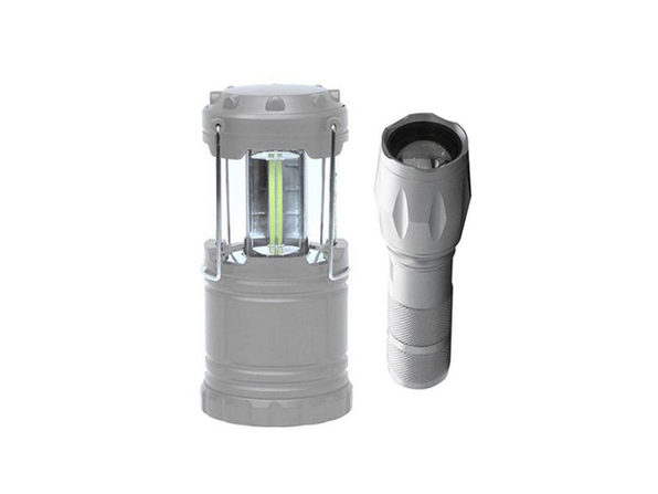 Bell + Howell Taclight Flashlight & Lantern Bundle - Silver - Product Image
