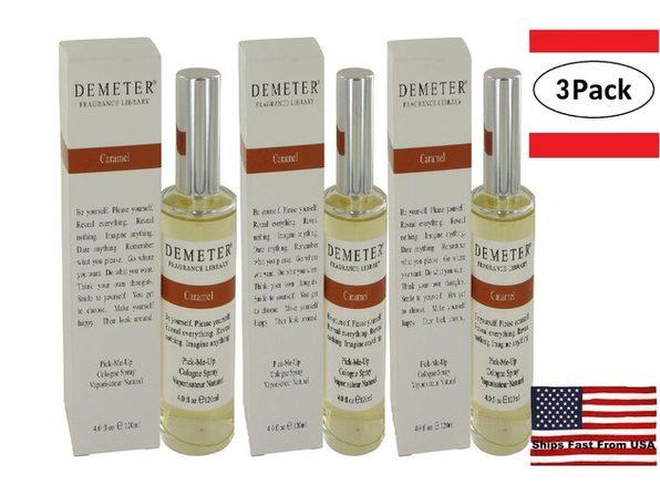 3 Pack Demeter Caramel by Demeter Cologne Spray 4 oz for Women - Product Image