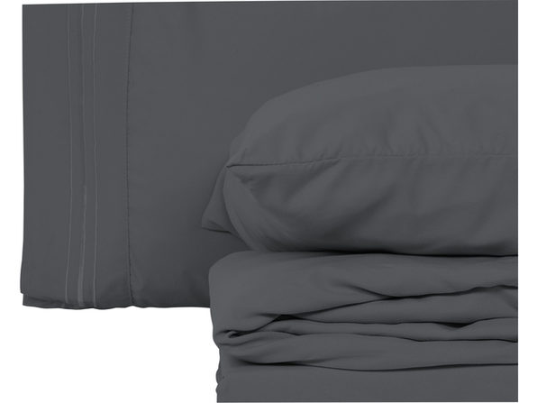 Style Basics 4 Pack of Super Soft Brushed Microfiber 16-Pieces Bed Sheet Set - 1800 Series  Easy-Clean - Purple Queen