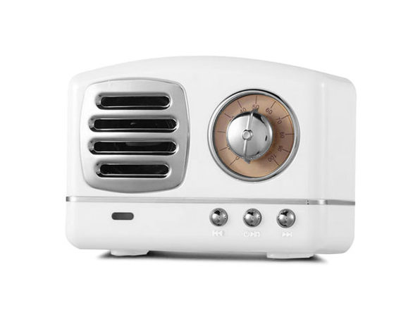 Retro Bluetooth Speaker (White)