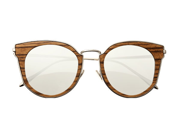 Earth Wood Karekare Sunglasses (Zebra Wood)