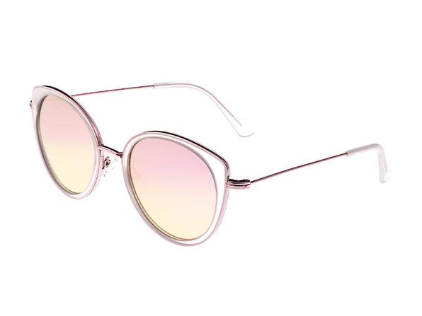 Bertha Sasha Wayfarer Sunglasses (Pink/Rose Gold)