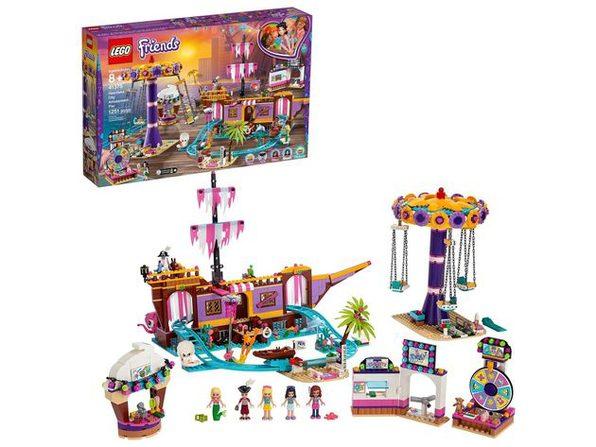 LEGO Friends Heartlake City Amusement Pier Rollercoaster Building Set, 1251 Pieces (New Open Box)
