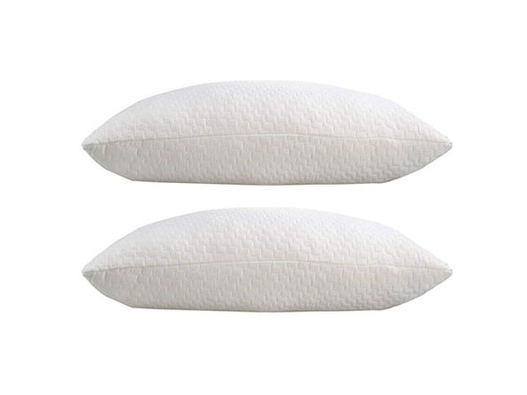 Sable Memory Foam Pillow with Bamboo Cover: 2-Pack