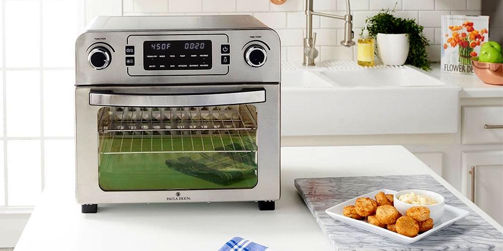 An air fryer and rotisserie