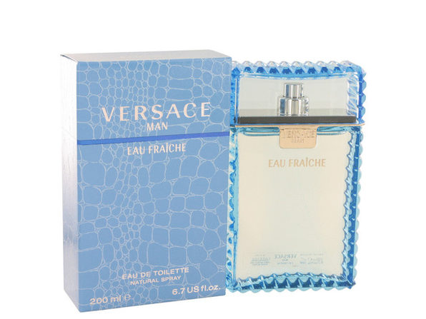 3 Pack Versace Man by Versace Eau Fraiche Eau De Toilette Spray (Blue) 6.7 oz for Men - Product Image
