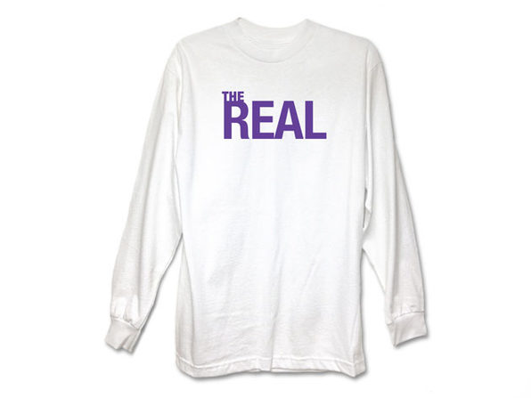 'The Real' White Long Sleeve Shirt