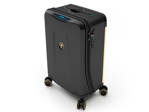 Plevo: The Runner - Smart Luggage Set (Black)