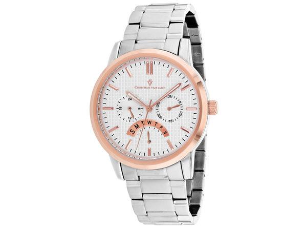 Christian Van Sant Men's Alden Silver Dial Watch - CV0322