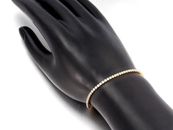 Swarovski Crystal 3mm Classic Round Tennis Bracelet