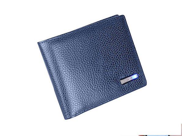 WalletGuard24: Smart Bluetooth Wallet (Blue)