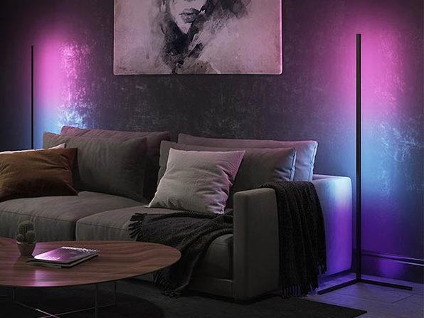 Lamp Depot Minimalist LED Corner Floor Lamp