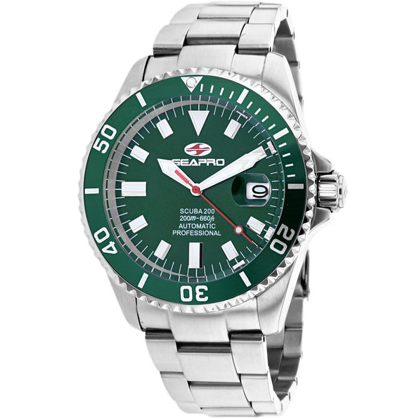 Seapro Men's Scuba 200 Green Dial Watch - SP4318 - Product Image
