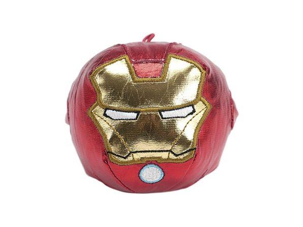 Hallmark Fluffballs Marvel Iron Man Plush Ball Ornament Stuffed Toy, Red and Golden (New Open Box)