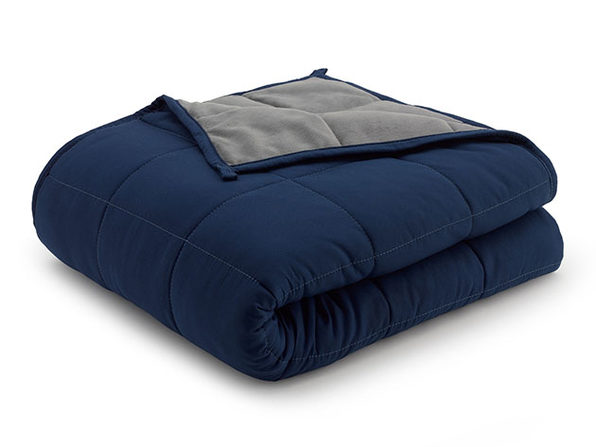 Weighted Anti-Anxiety Blanket (Grey/Navy)