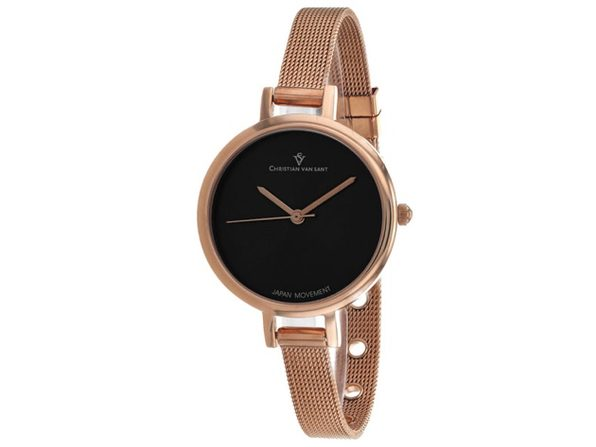Christian Van Sant Women's Grace Black Dial Watch - CV0287 - Product Image