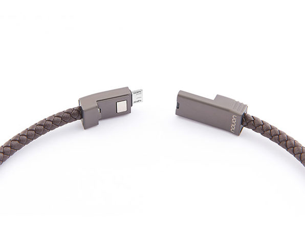 NILS 2.0 Solo: Fast Wearable Micro-USB Charging Cable (Chocolate/ L)