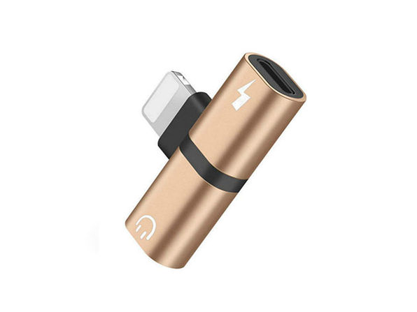 iPhone Audio & Charger Adapter - Gold - Product Image