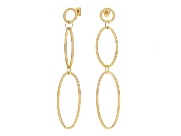 Christian Van Sant Italian 14k Yellow Gold Earrings CVE9LRC - Product Image