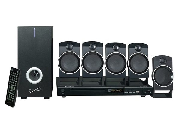 Supersonic SC37HT 5.1 Channel Surround Sound DVD Home Theater Built-in USB Input (Used, Damaged Retail Box)