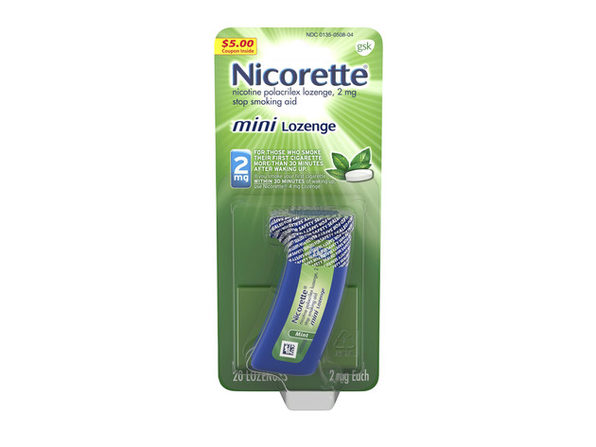 Nicorette Mini Nicotine Lozenge Calm Intense Nicotine Withdrawal Stop Smoking Aid 2mg 20 Count Mint Flavor
