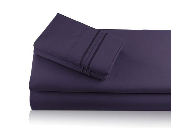 Bali Bamboo Luxury 6-Piece Plum Sheet Set
