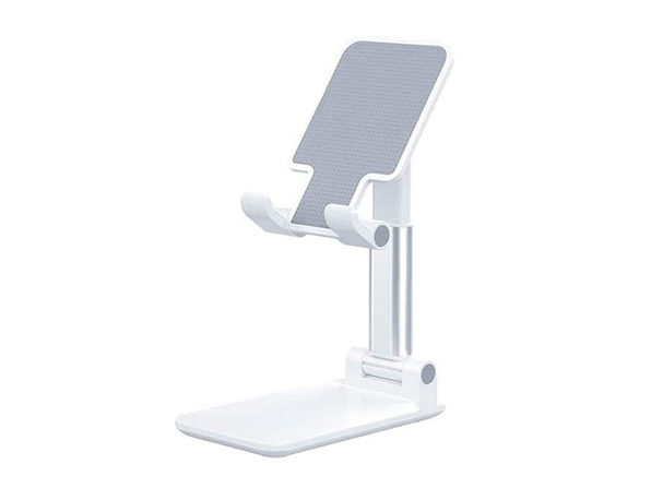 Foldable Travel-Ready Phone Stand (White)