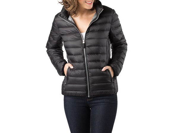 Exclusive Travel Puffer in Black (L)