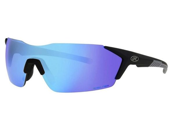Rawlings 10241771.QTM Blue Mirror Adult Rimless Sunglasses, Black/Smoke - Product Image