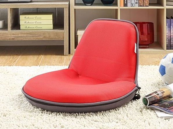Loungie Quickchair Mesh Floor Chair  - red/grey - Product Image