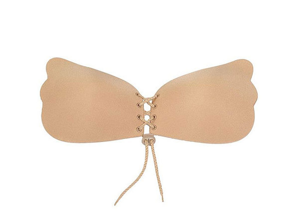 Tie Push-Up Bra in Nude