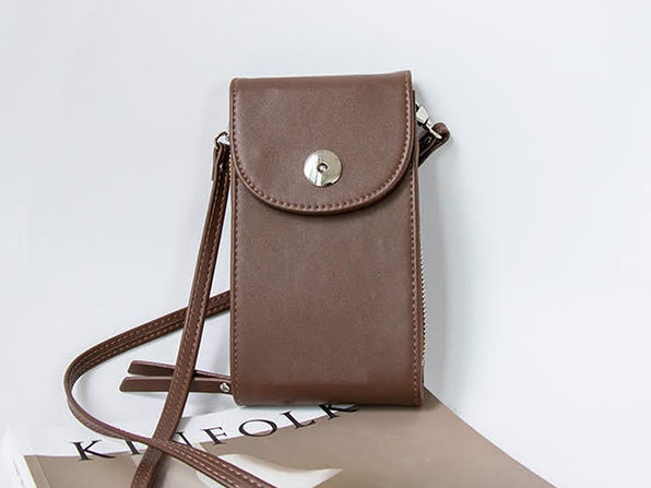 Mini Cross Body Purse - Brown - Product Image