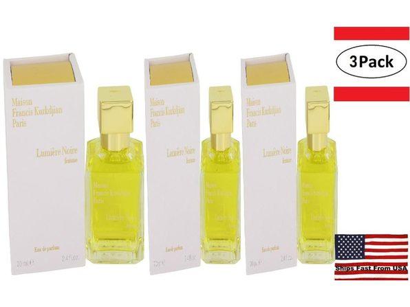 3 Pack Lumiere Noire Femme by Maison Francis Kurkdjian Eau De Parfum Spray 2.4 oz for Women