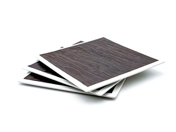 """Tuxton Home Kona Lava Platter 3-Pc Set (12"""" Square)"""