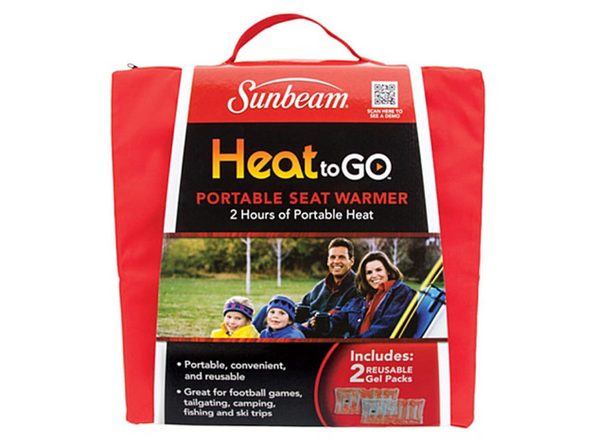 Sunbeam SSGP310-35 Heat to Go Portable Warming Stadium Seat, Garnet - Garnet