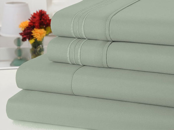 Bamboo Comfort 4-Piece Luxury Queen Sheet Set (Sage)