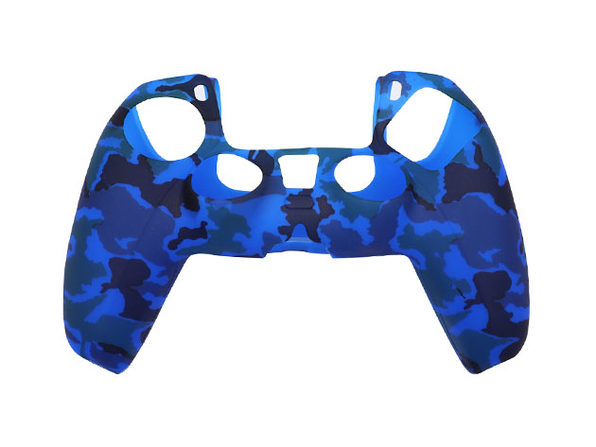 PS5 Silicone Controller Cover Camo Blue - Product Image