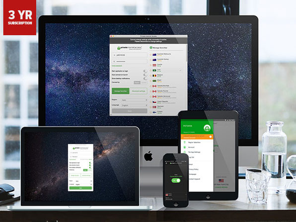 3-Year Private Internet Access VPN Service Subscription