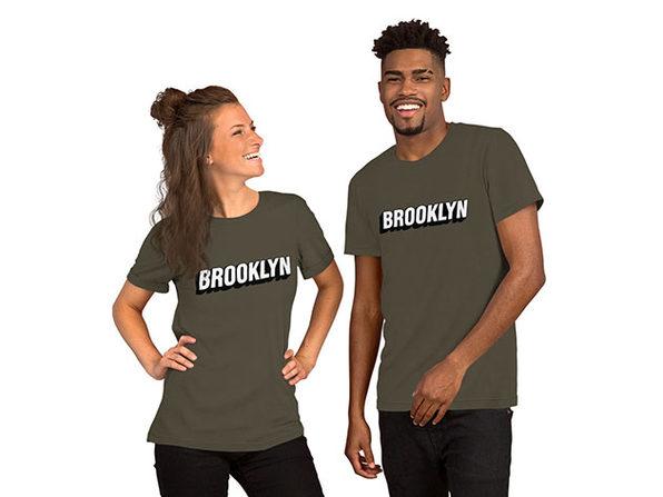BROOKLYN Unisex T-Shirt – Army (XL)