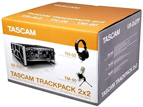 Tascam 2x2 Complete Trackpack Recording Studio Package for Mac/Windows PCs (Like New, Open Retail Box)
