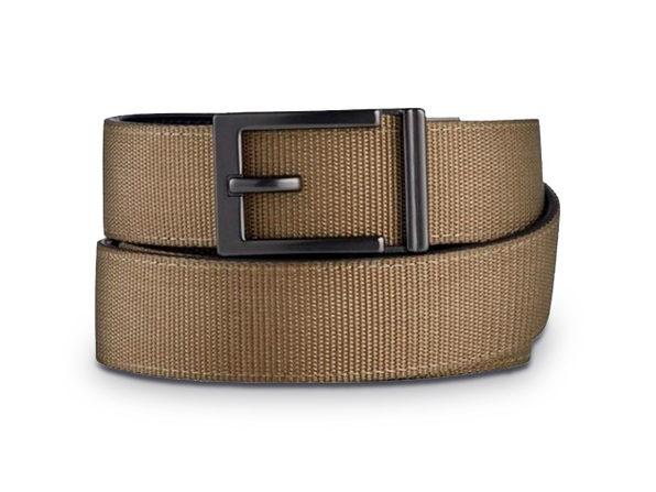 Express Gunmetal Nylon Belt - Tan - Product Image