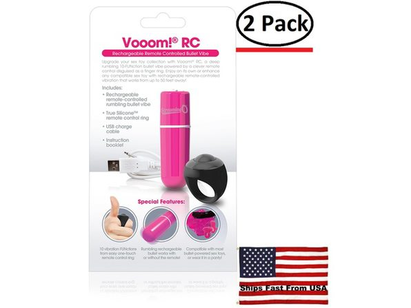 ( 2 Pack ) Charged Vooom Remote Control Bullet - Pink - Product Image