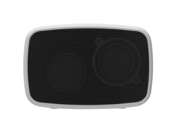 Ematic ESQ206SL RuggedLife, Water-Resistant, Bluetooth Speaker and Speakerphone, Built-In Rechargeable Battery, Five Hours of Playtime, Silver (Open Box - Like New)