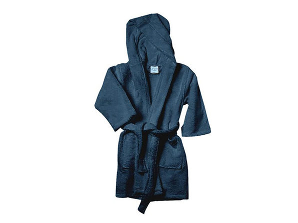 Alvare Luxury Kids Robe (Navy/Small-Medium)
