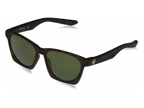 Dragon Alliance Post Up Sunglasses Tortoise Frames with Green Lens - Product Image