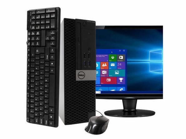 """Dell Optiplex 5040 Desktop PC, 3.2GHz Intel i5 Quad Core Gen 6, 16GB RAM, 2TB SATA HD, Windows 10 Professional 64 bit, BRAND NEW 24"""" Screen (Renewed)"""