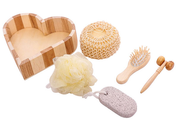 6-Piece Wooden Bath Gift Set