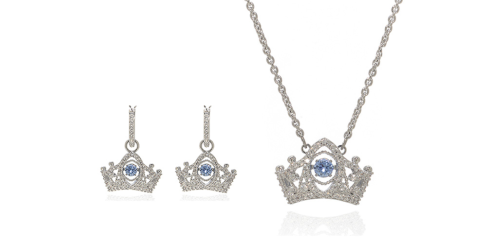 """Swarovski """"Bee A Queen"""" Rhodium-Plated Crystal Necklace & Earrings"""