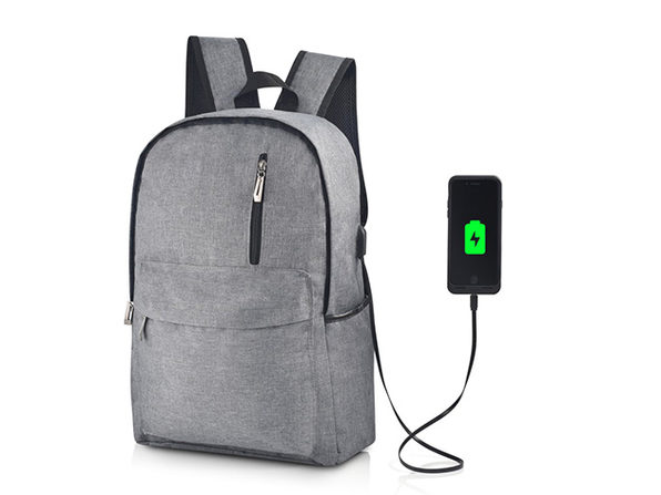 Something Strong Charging Backpack (Light Grey)