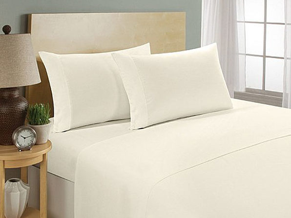 Ultra Soft 1800 Series Bamboo Bed Sheets: 4-Piece Set (King/Ivory)